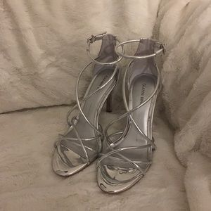 Gianni Bini Silver Heels